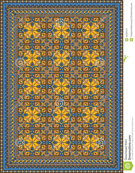 Vintage Story Carpet Classic pompous classic pattern for carpet stock illustration image 42026472