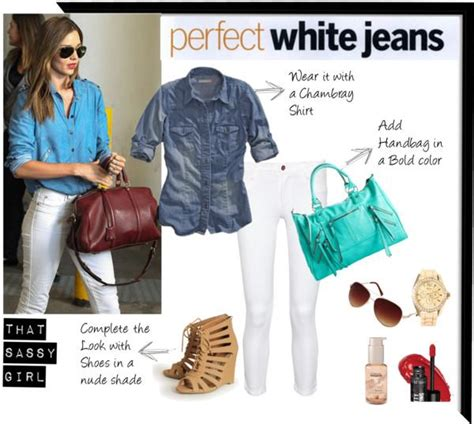 5 ways to wear white denim now paperblog