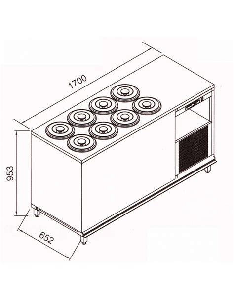 banco gelati banco n 176 8 8 pozzetti gelati a glicole carapine incluse