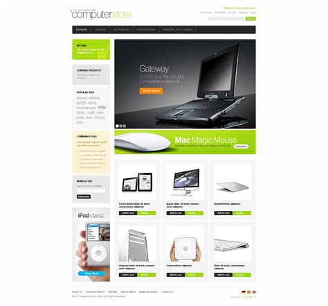 buzz themes computer store computer store magento theme 33090