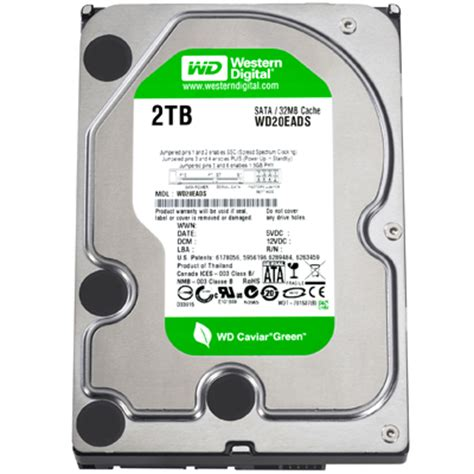 Harddisk Wd 2tb western digital 2tb caviar green power drive