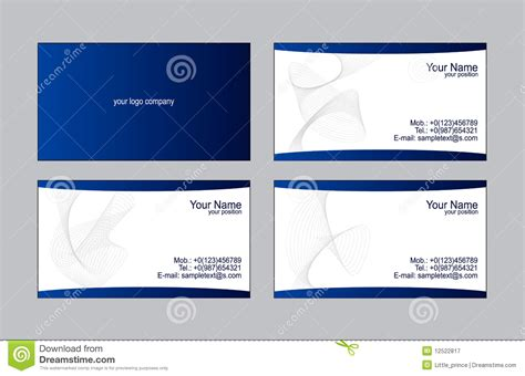 Sle Cards Templates sle business card template 28 images modelli dei