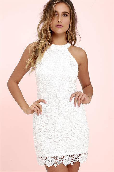 White Lively S M L Dress 44238 lace dress ivory dress sleeveless dress white dress 64 00