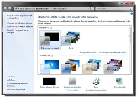 personnalisation du bureau windows 7 installer les th 232 mes cach 233 s webochronik