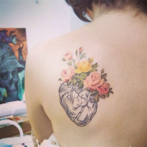 flower tattoo hipster 1000 ideas about anatomical heart tattoos on pinterest