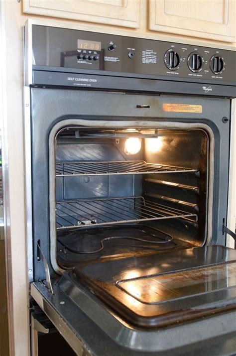 using oven to heat house how to clean an oven with baking soda vinegar cleaning lessons from the kitchn