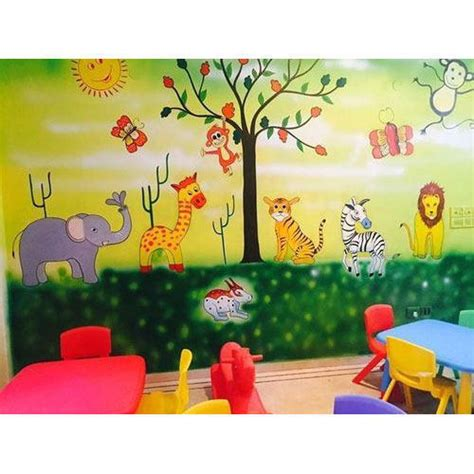 wall art painting kids class room wall art painting
