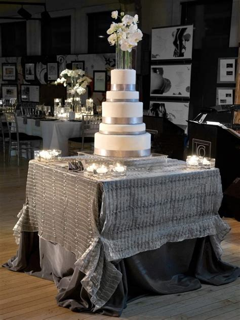 silver wedding table stunning wedding cake table skirt d 233 cor ideas decozilla
