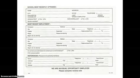 online printable job application for subway subway online job application form
