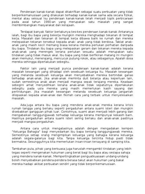 Moral Essay by Penderaan Kanak