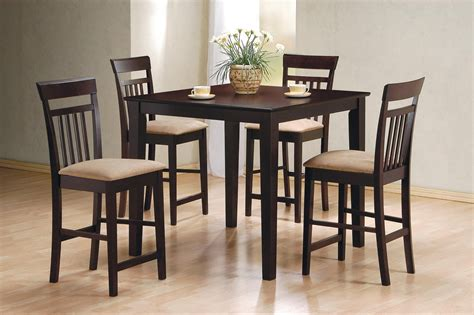 cappuccino dining room furniture cappuccino 5 piece counter height dining room set 150041