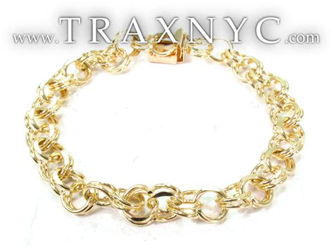 14k yellow gold charm bracelet gold bracelet yellow