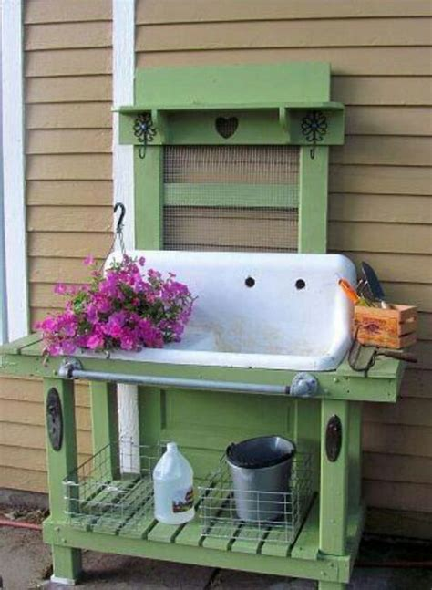 Garden Potting Bench With Sink sink potting bench things with character