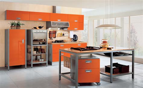 orange kitchen design orange kitchen decosee com