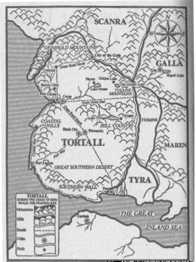 Map of Tortall from Tamora Pierce's Alanna series | A