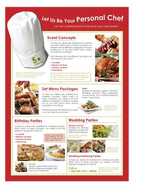 Catering Brochure Templates by Event Planners Corporate Events And Flyer Template On
