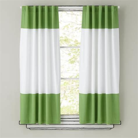 Green Drapery 4 kinds of green striped curtains