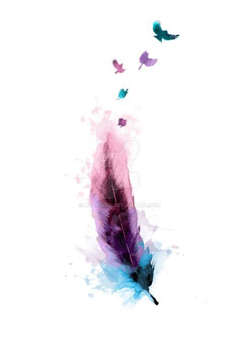watercolour feather by meyangel on deviantart