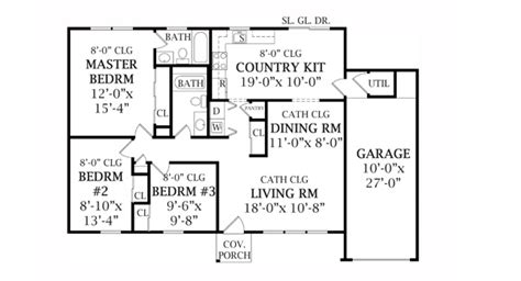 basic floor plan designer coventry 3450 3 bedrooms and 2 5 baths the house designers