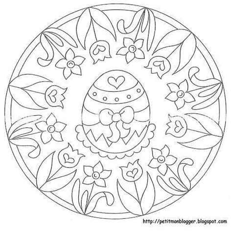 preschool easter egg mandala coloring 4 171 funnycrafts 1534 best images about coloring pages on pinterest