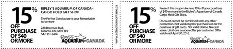 haircut coupons toronto ripley s aquarium of canada coupon attractions ontario