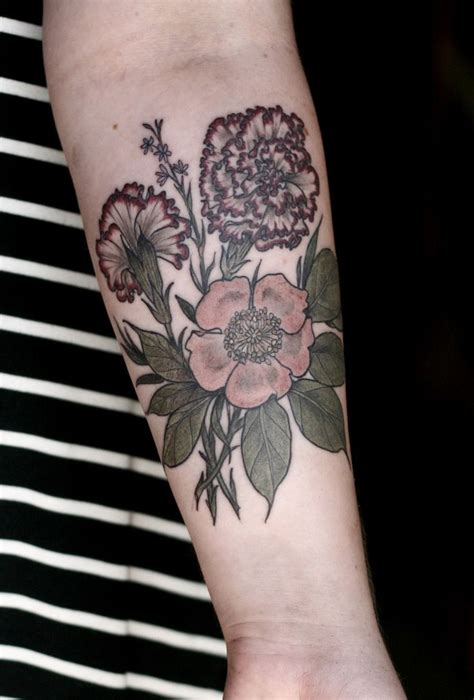 tattoo portland oregon carnations and done by carrier at