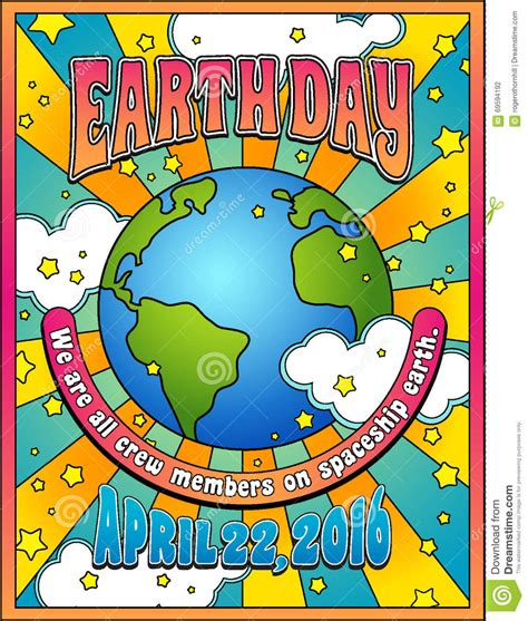 Earth Day 5 earth day poster stock vector illustration of earth