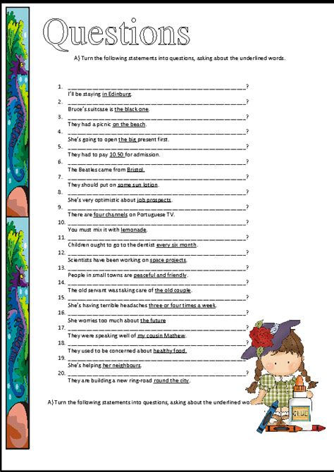 Who Worksheet