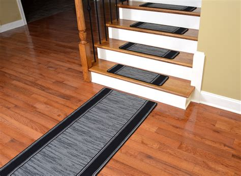 washable stair tread rugs washable non skid carpet stair treads boxer grey 13