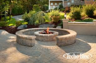 Firepit Garden Outdoor Living Valencia Pit By Techo Bloc Traditional Pits Philadelphia By