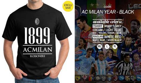 code ac milan exclusive year black t shirt unisex
