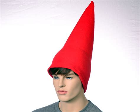 gnome themes redhat red gnome hat extra tall cap fleece men women tall pointed