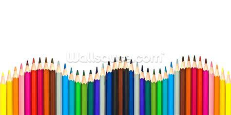 Wallsticker Border Pencil Warna coloured pencils wallpaper wall mural wallsauce usa