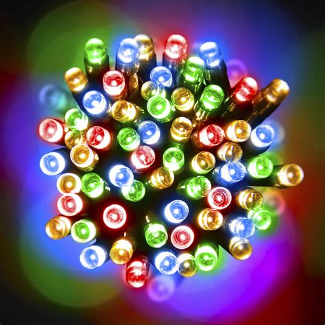 100 led multicolour christmas lights fairy lights