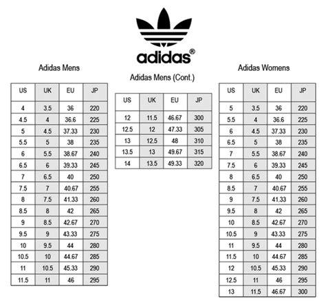 adidas superstar size chart world  printables