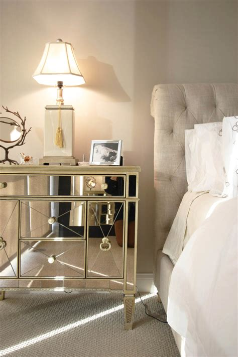 ideas for nightstands delightful mirrored nightstand decorating ideas