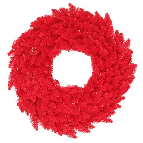 60 in christmas wreath classic pvc needles red