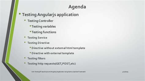 angularjs external template unit testing of java script and angularjs application