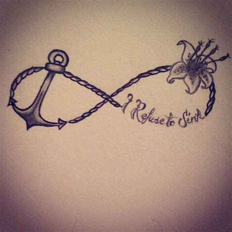 i refuse to sink anchor tattoo i refuse to sink simple expressions