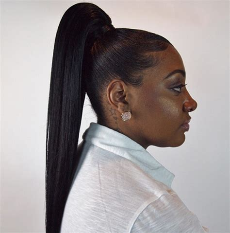 American Hairstyles Pictures by High Ponytail Black Weave Hairstyles Models Picture