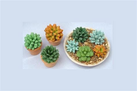 Bench Making Plans Tutorial Tiny Clay Succulent Plants Polymer Clay
