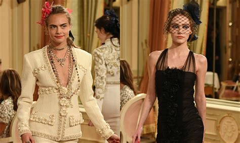 Catwalk To Carpet Paradis In Chanel by Cara Delevingne Returns To The Catwalk While