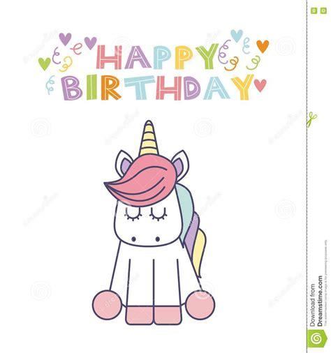clipart auguri biglietto di auguri per il compleanno dell unicorno