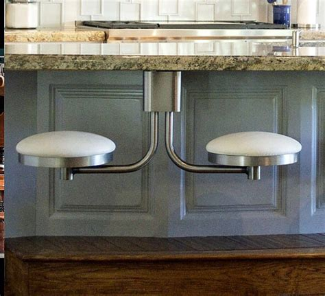 Diy Suspended Bar Stools by Suspended Swing Out Stools Cool Idea For The Home