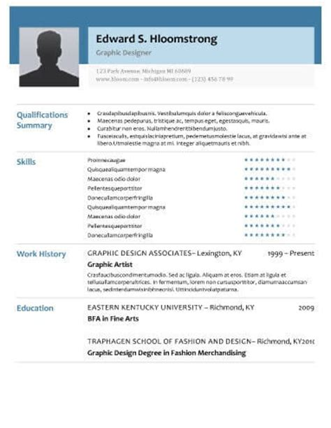 modern resume templates [64 examples free download]