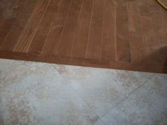 tile to wood floor transition jeb kennel builders flooring contractor in central illinois
