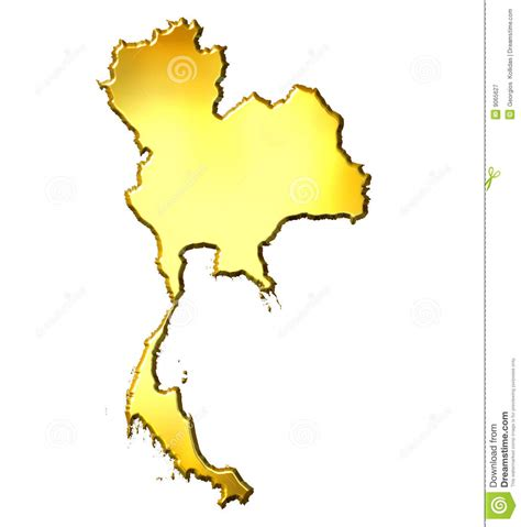 thailand map ai thailand 3d golden map royalty free stock photography