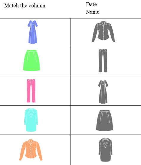 Matching For And - kindergarten counting worksheet