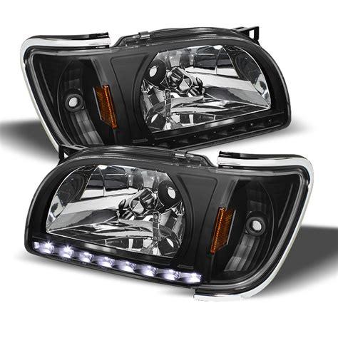 04 tacoma lights 01 04 toyota tacoma led drl headlights black