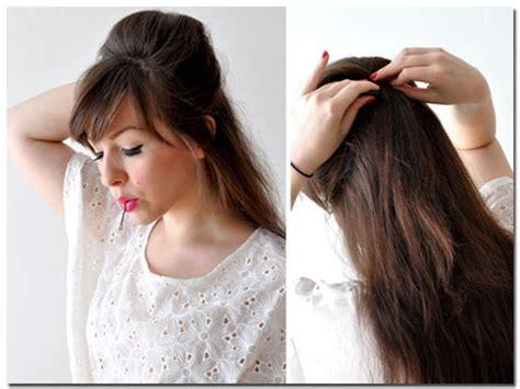 tutorial rambut kepang ekor ikan rambut anda sendiri atau dengan karet rambut posisi ekor